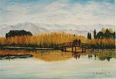 Ο Προφήτης Ηλίας και η Λίμνη της Αγίας Άννας στη ζωγραφική.