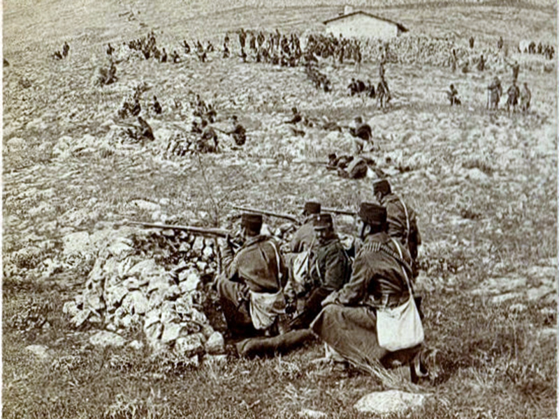 Ντοκουμέντο η φωτογραφία ελήφθη στον Τύρναβο τον Απρίλιο του 1897 στην μάχη εναντίον των Τούρκων…