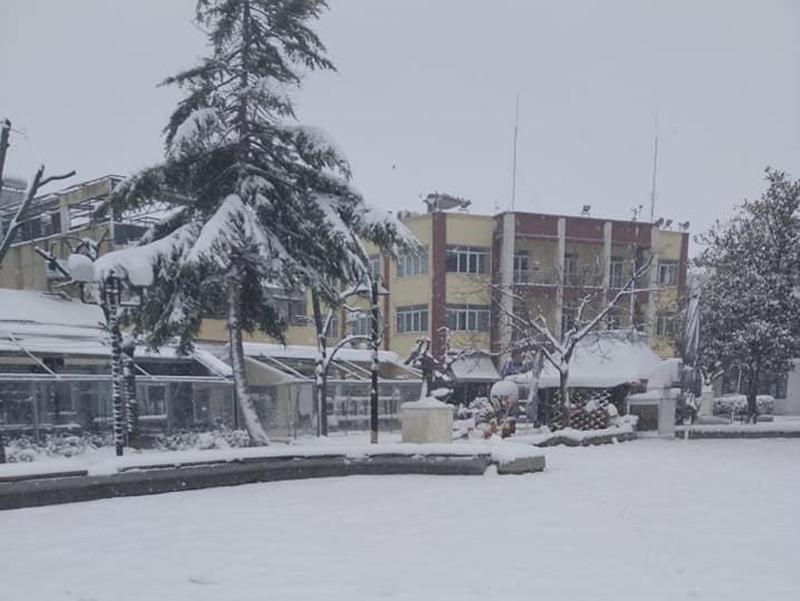 Βίντεο από την πλατεία Τυρνάβου και φωτογραφίες από διάφορες συνοικίες. Σε επιφυλακή ο Δήμος
