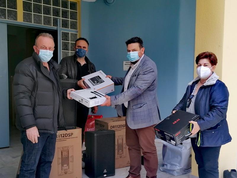 Δωρεά ηχοσυστήματος στο Δημοτικό Σχολείο Δαμασίου από το Γενικό Νοσοκομείο Λάρισας
