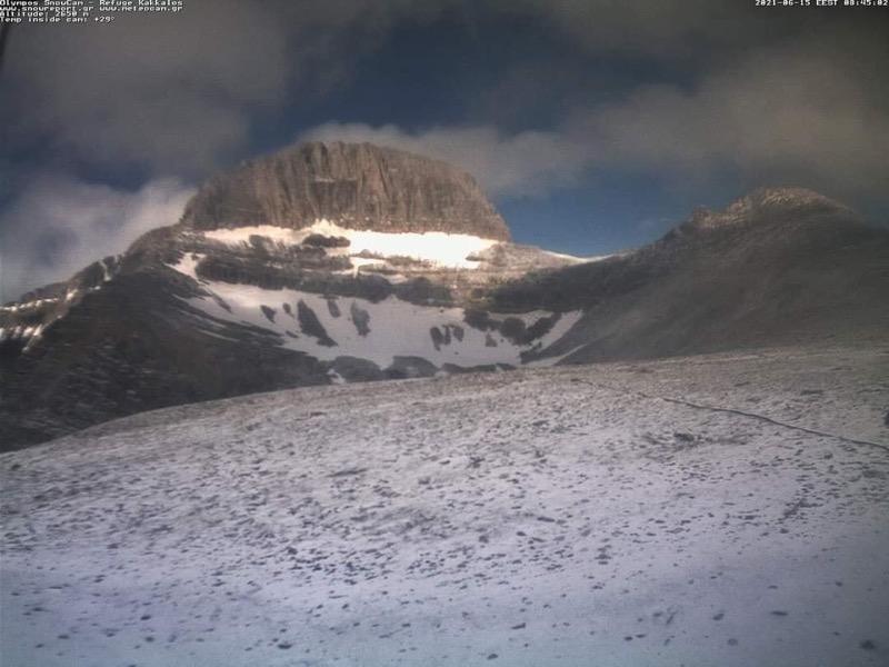 Χιονόπτωση από τα 2000μ και πάνω είχαμε τα ξημερώματα στον Όλυμπο