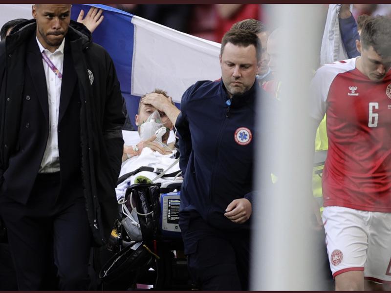 Πάγωσε το γήπεδο στον αγώνα Δανία-Φιλανδία. Κατέρρευσε παίκτης.