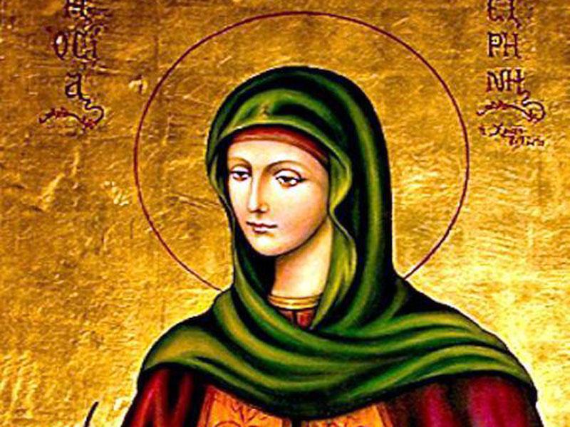 Mεγάλη γιορτή της ορθοδοξίας σήμερα 28 Ιουλίου Αγία Ειρήνη η Χρυσοβαλάντου