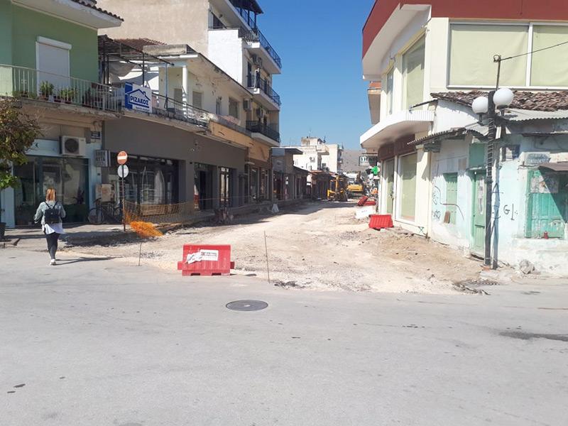 Κλειστή από χθες Δευτέρα η οδός Εθνικής Ανεξαρτησίας στο Τύρναβο λόγω των έργων