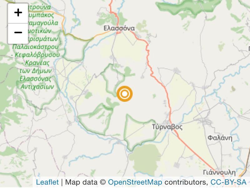 Σεισμός με 3,2 βαθμούς της κλίμακας ρίχτερ στην περιοχή μας
