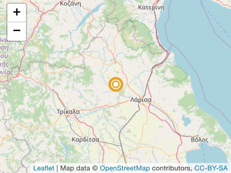 Σεισμός 3.1 βαθμών της κλίμακας ρίχτερ κοντά στο Δαμάσι