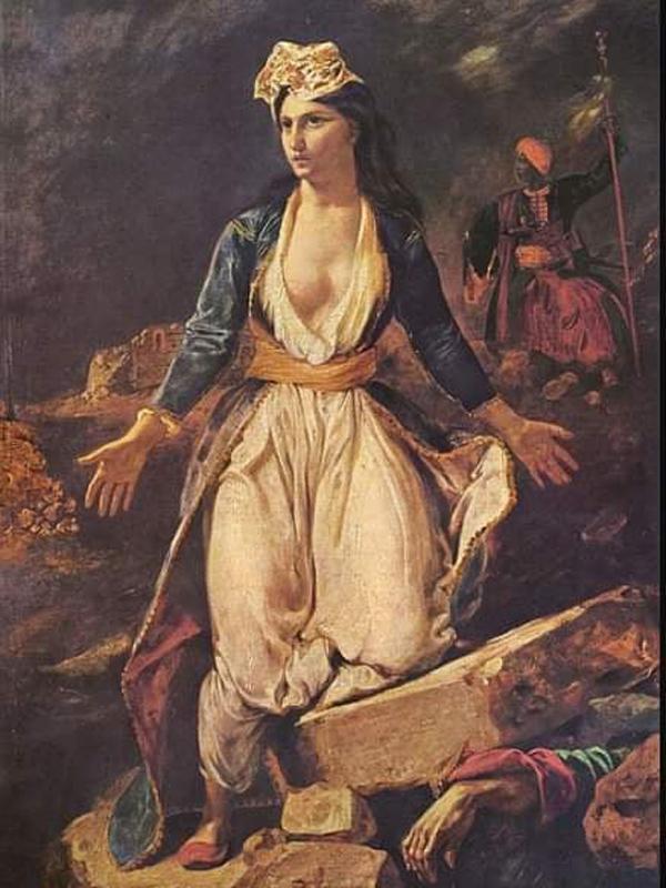 """Θυμηθείτε, οι μητροκτόνοι δεν είχαν ποτέ καλό τέλος-""""Η Ελλάδα"""" του πίνακα Ντελακρουά"""