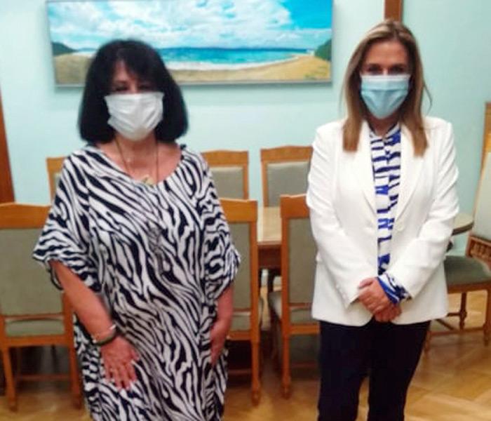 «Συνάντηση της Άννας Βαγενά με την Υφυπουργό Υγείας Ζωή Ράπτη σχετικά με τη λειτουργία δομών για ασθενείς με άνοια-νόσο Alzheimer στην περιοχή της Λάρισας»